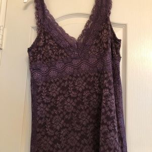 Lace top. Very soft!